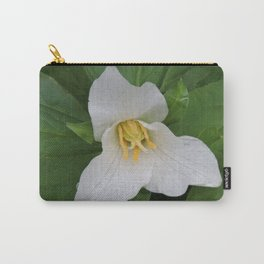 Trillium in the Rain Carry-All Pouch