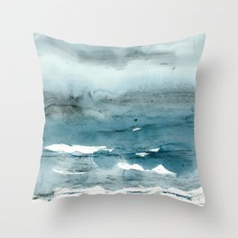 dissolving blues Throw Pillow