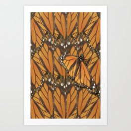 The Butterfly Camoflage Art Print