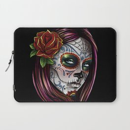 Mexican Skull Girl Laptop Sleeve