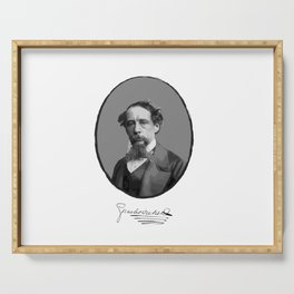 Authors - Charles Dickens Serving Tray
