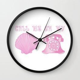 KG Beauty Call Me On My Shell Phone Wall Clock