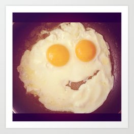 smiley egg Art Print