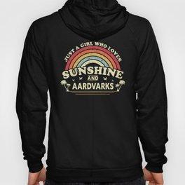 Aardvark product. A Girl Who Loves Sunshine And Aardvarks print Hoody