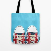 british Tote Bags featuring Casual British by Matt Andrews