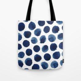 Watercolor polka dots Tote Bag