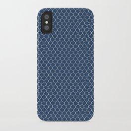 Chicken Wire Navy iPhone Case