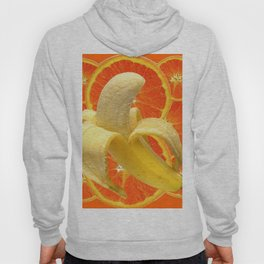 TROPICAL PEELED BANANA & JUICY ORANGE SLICES FRUIT Hoody