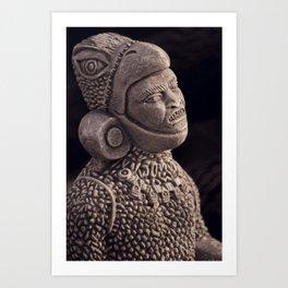 Aztec Portrait Art Print