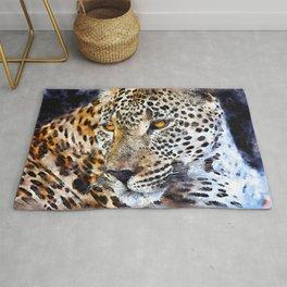 Leopard Wild Portrait Rug