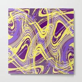 Yellow and Purple Dancing the Tango Metal Print