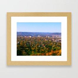La Crosse from the bluff; Wisconsin Framed Art Print