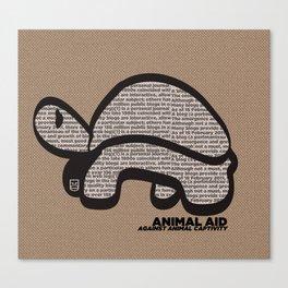 ANIMAL AID Canvas Print