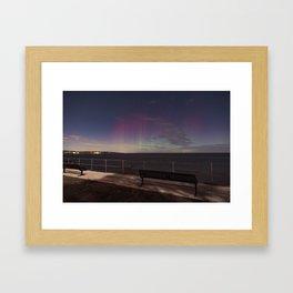 Moonlight Aurora Framed Art Print