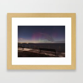 Moonlight Aurora Framed Art Print