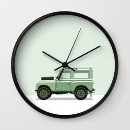 Car illustration - land rover defender Wall Clock