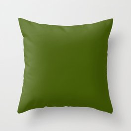 Jungle Green Solid Color Collection Throw Pillow