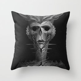 Skeleton Lady Throw Pillow