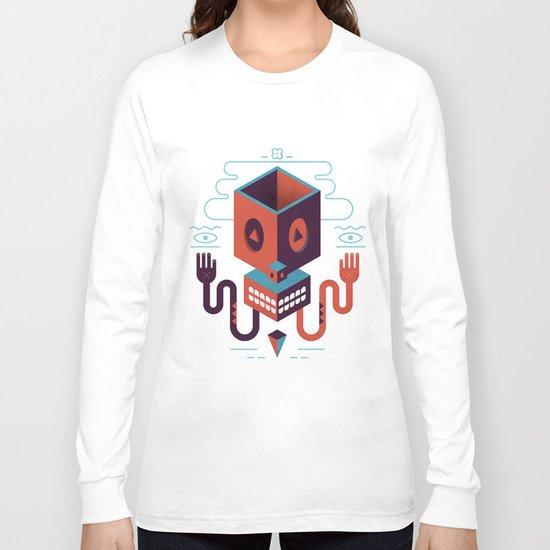 Geometric Skull Long Sleeve T-shirt