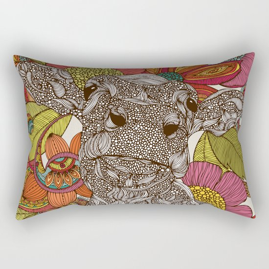 Arabella and the flowers Rectangular Pillow
