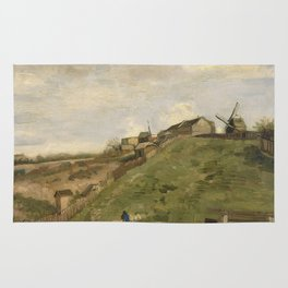 The hill of Montmartre with Stone Quarry Rug