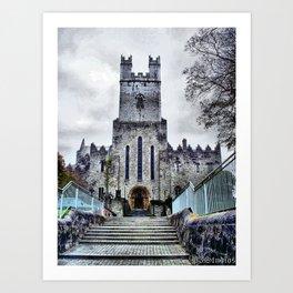 Limerick Catherdral Art Print