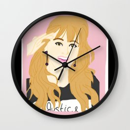 Knock Knock! Jihyo Pink Wall Clock
