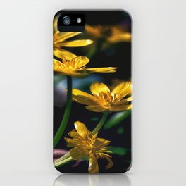 Yellow Spring Flowers iPhone Case