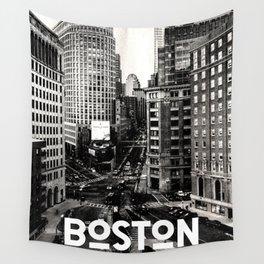 Boston, Massachusetts City Skyline Wall Tapestry