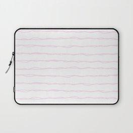 Simply Wavy Lines in Desert Rose Pink Laptop Sleeve