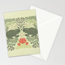 Pond life Green and Coral Stationery Cards