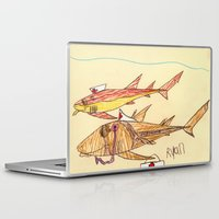 nurse Laptop & iPad Skins featuring Nurse Sharks by Ryan van Gogh