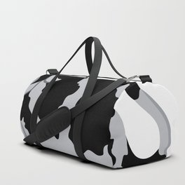 Cow chewing flower Duffle Bag