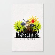 Adventure Awaits You Canvas Print