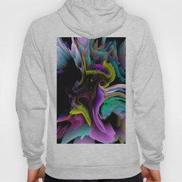 glitch 3d flower art Hoody