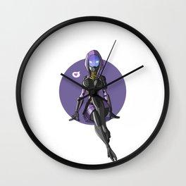 Tali Zorah from Mass Effect - Cute pinup Wall Clock