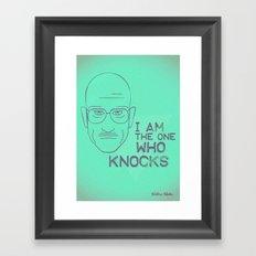 Breaking Bad - Faces - Walter White Framed Art Print