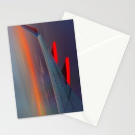 On the Wing of a Sunset Stationery Cards