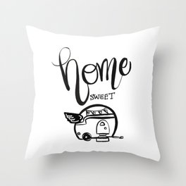 HOME SWEET HOME RV CAMPER Throw Pillow
