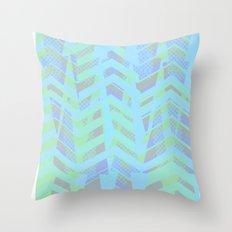 Seaside Chevron Throw Pillow