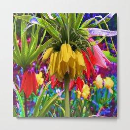 FANTASY ART YELLOW CROWN IMPERIAL FLOWERS Metal Print