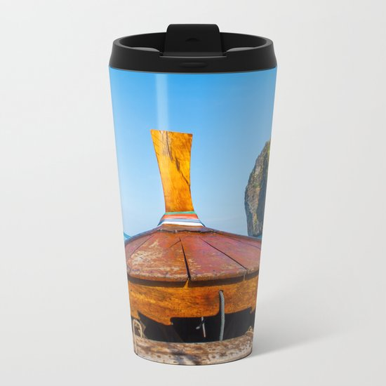 South Pacific Boat Launch Metal Travel Mug