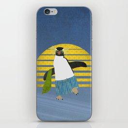 Northern Rockhopper Penguin on Spring Break iPhone Skin
