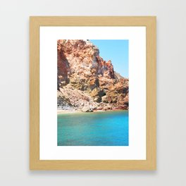 244. Red and Blue, Greece Framed Art Print