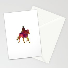 Horse show 03 in watercolor Stationery Cards