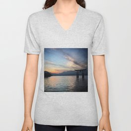 miyajima island views Unisex V-Neck