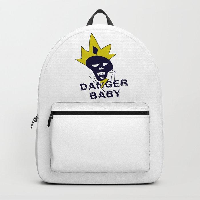 Danger baby - Skull funny design #society6 #decor #buyart #artprint Backpack