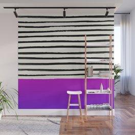Galaxy x Stripes Wall Mural
