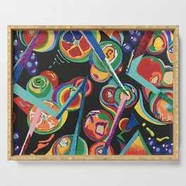Colorful Abstract Fruit Serving Tray