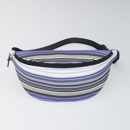 Bright bold Blue And Purple Stripe Fanny Pack